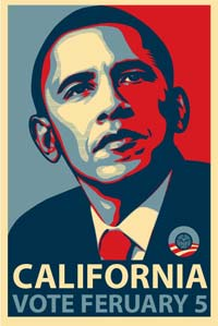 Barack obama california poster art